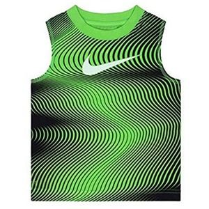 Nike Dri-FIT Lines new Muscle Tee Green Boys Small